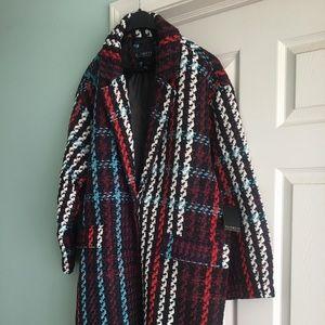 Plaid Tweed Statement Jacket by Eloquii